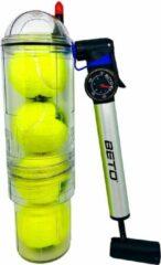 Tuboplus TuboX4 - Crystal (+ Pomp met drukregelaar) tennis- en padelballen