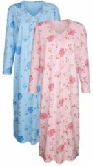 Nachthemd Harmony roze/bleu