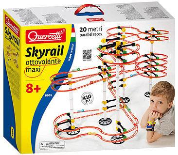Afbeelding van Toy Team Agencies Quercetti Knikkerbaan Skyrail Ottovolante Maxi 410-delig
