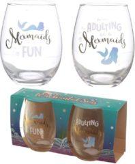Set van 2 drinkglazen , mermaids / zeemeermin . Puckator