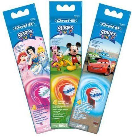 Afbeelding van Oral-B Stages Power Kids Princess Disney - Opzetborstels - 4 stuks