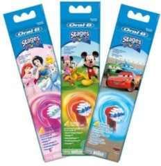 Oral-B Stages Power Kids Princess Disney - Opzetborstels - 4 stuks