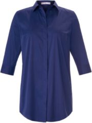 Lange blouse met 3/4-mouwe Van Emilia Lay blauw