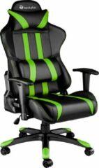 Tectake Gaming chair bureaustoel - Premium racing style - Zwart/groen
