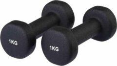 Evora Dumbbells set 2 x 1 kg - Gewichten - Zwart