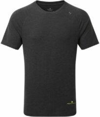 Zwarte Ronhill Life Tencel Short Sleeve Running Tee - Hardloopshirts (korte mouwen)