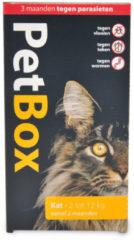 Petbox Kat Vlo. Teek & Worm - Anti vlo - teek- worm - 2-12 Kg Medium
