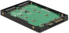 2x M.2 SSD naar 22-Polig SATA behuizing - Delock