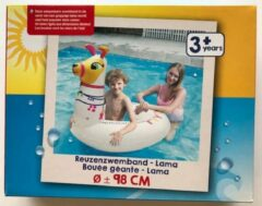 Witte Evora Opblaasbare Reuzenzwemband Lama 98cm Zwembad Zomer