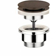 Clickwaste Hotbath Cobber Afvoerplug met Schroef Rond Verouderd Messing