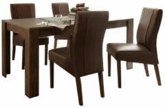 Donkerbruine Pesaro Mobilia Eettafel SKY 137 cm breed - Cognac bruin