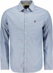 Blauwe Twinlife Shirt Oxfort Tw02207 Stone Wash