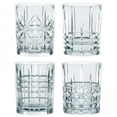 Transparante Nachtmann Highland whiskyglazen - Tumbler set van 4 - 345 ml