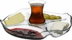Transparante Pasabahce Patisserie - Ontbijt/Snacks Serviesbord Met 5 Vakjes - 1 stuk