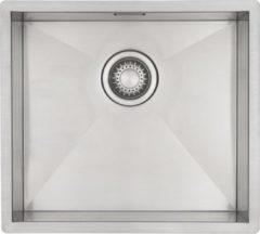 Roestvrijstalen Spoelbak Keuken 45 cm Mizzo Design - Onderbouw/Vlakbouw RVS Spoelbak - Vierkante Spoelbak