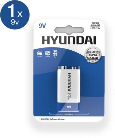 Afbeelding van Hyundai - 9V Batterij - Alkaline - 1 stuks