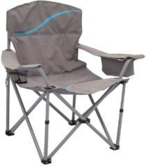 Praktischer Campingstuhl mit Getränkehalter und Kühlfach vielseitig einsetzbar für Festival Meerweh grau/blau