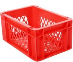 Merkloos / Sans marque Transport bagage krat mini (rood) - Fietsmand