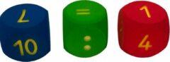 Rode Dobbelstenen Rekenset | Volley ® Foam Dobbelstenen | Set van 3 stuks | 16x16x16 cm | Schuimstof Dobbelsteen | Foam Dobbelstenen