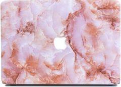 Lunso marmeren hardcase hoes roze voor de MacBook Air 11 inch