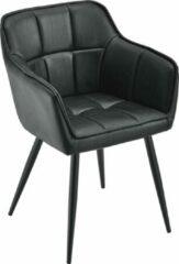 En.casa Fauteuil Birmingham 79x56x53,5 cm suede imitatie zwart