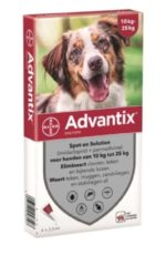 Advantix Spot On 250 2.5 ml - Anti vlooien en tekenmiddel - 4 pip 10-25 Kg