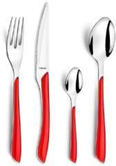 Rode Amefa Eclat bestekset - 24-delig - 6-persoons - rood