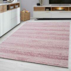 Ayyildiz Plus Vloerkleed Roze Laagpolig - 80x300 CM