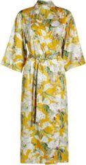Gele Essenza Ilona Rosalee kimono met bloemenprint