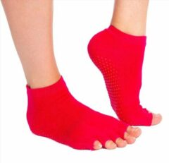 Merkloos / Sans marque Roze sokken 'Summer' met antislip voor Yoga, Pilates en Piloxing- meerdere kleuren verkrijgbaar- Pilateswinkel