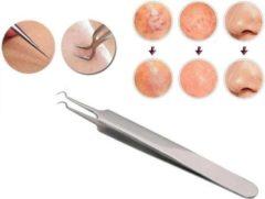 Roestvrijstalen Puisten / acne / mee-eter Pincet RVS