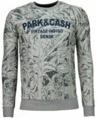 Black Number Park&Cash - Sweater - Grijs Sweaters / Crewnecks Heren Sweater Maat XL