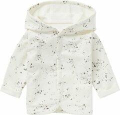Antraciet-grijze Noppies baby reversible vest Bonny wit/antraciet