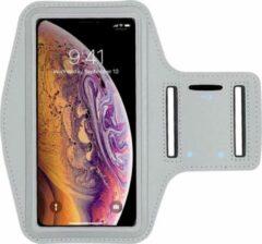 Samsung Galaxy S21 - Sportarmband - Grijs - Spatwaterdicht - 1 sleutelhouder - Reflecterend - Hardlooparmband - Telefoonarmband - Hardloop Telefoonhouder