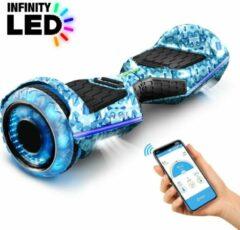 Blauwe 6,5 inch premium hoverboard Bluewheel HX360 - Duits kwaliteitsmerk - veiligheidsmodus voor kinderen - infinity LED-wielen & app
