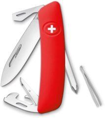 Rode SWIZA D04 KNI.0040.1000 Zwitsers zakmes softtouch Aantal functies: 11 Rood