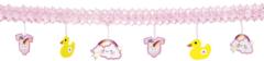 Roze Boland Party Products Geboorteslinger Meisje Baby Girl met onderhangers 4 meter