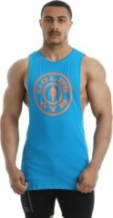 Turquoise Gold's gym Gold's Hemd Blauw