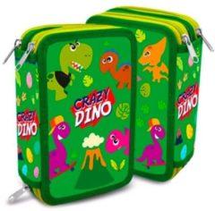 Kids Licensing Etui Crazy Dino 12 X 20 X 6 Cm Polyester Groen