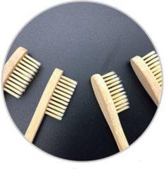 Witte Morsal's World Bamboe Tandenborstel set van 2 stuks Bamboo toothbrush - Charcoal infused ®