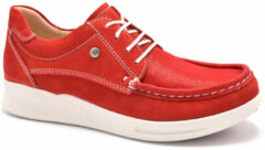 Rode Nette schoenen Wolky 05901 One - 10570 red-summer stretch nubuck