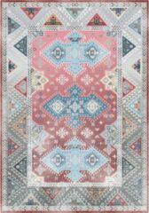 Lizzely Garden & Living Vloerkleed vintage 200x350cm grijs rood perzisch oosters tapijt