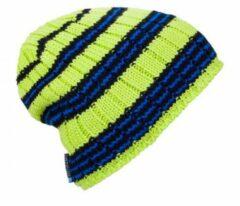 Ortovox Beanie Rock N Woool Stripe / Happy groen Unisex