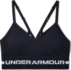 Grijze Under Armour - UA Seamless Low Long Bra - Black / / Halo Gray - Vrouwen - Maat XL