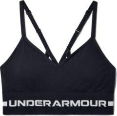 Grijze Under Armour - UA Seamless Low Long Bra - Black / / Halo Gray - Vrouwen - Maat XL