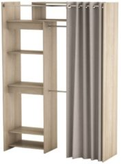 Young Furniture Uitschuifbare Open kledingkast Odeon 112 tot 168 cm breed - Shannon eiken