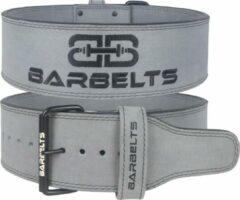 Barbelts powerlift riem 10mm - weightlifting belt - grijs - S