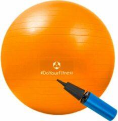 #DoYourFitness - Kantoorbal Fitnessbal Pilates bal - Gymnastiekbal - Robuuste zitbal en fitness bal ter verbetering van lichaamshouding, coördinatie en balans - 85cm - oranje