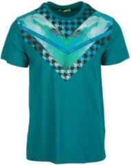 Verde Versace Jeans T-shirt maglia maniche corte girocollo uomo
