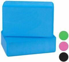 Relaxdays yoga blok - set van 2 - hardschuim - verschillende kleuren blauw